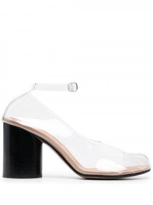 Прозрачные туфли Tabi 85 Maison Margiela. Цвет: нейтральные цвета