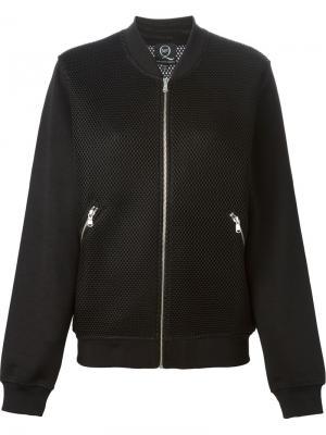Куртка-бомбер с сетчатыми вставками McQ Alexander McQueen. Цвет: чёрный