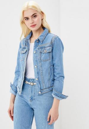 Куртка джинсовая Lime MP002XW0IY8R. Цвет: голубой