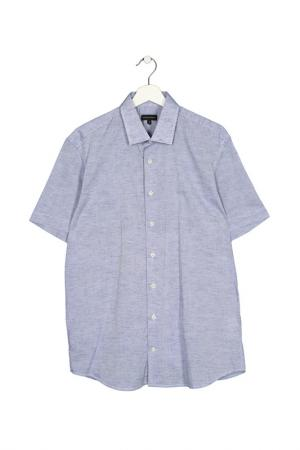 Сорочка с коротким рукавом Baldessarini. Цвет: голубой
