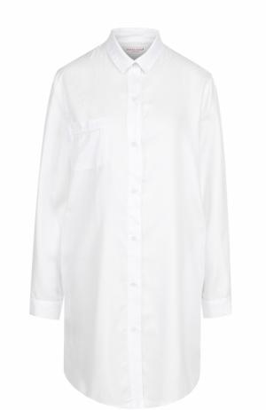 Хлопковая сорочка свободного кроя Derek Rose. Цвет: белый