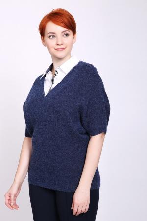 Пуловер Pezzo. Цвет: синий