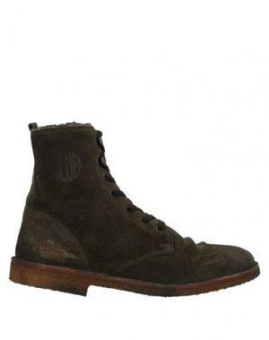 Полусапоги и высокие ботинки GOLDEN GOOSE DELUXE BRAND. Цвет: темно-зеленый