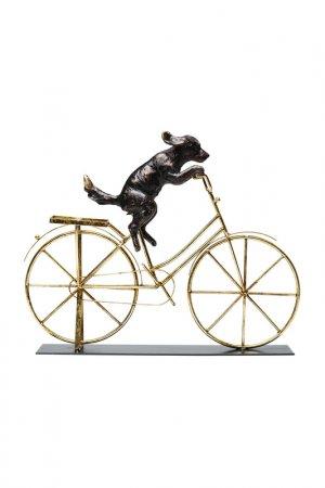 Статуэтка Dog With Bicycle Kare. Цвет: золотой, бронзовый