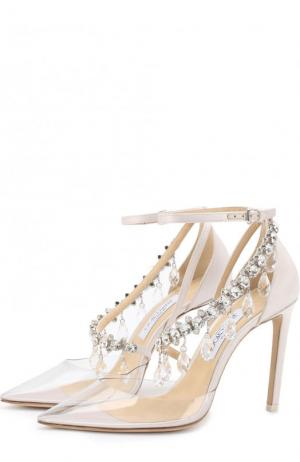 Туфли Victoria с декором x OFF-WHITE Jimmy Choo. Цвет: белый