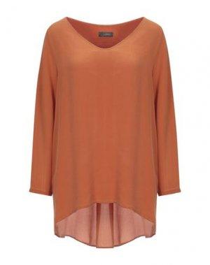 Блузка SOALLURE. Цвет: ржаво-коричневый