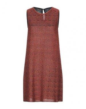 Короткое платье ANTONINO VALENTI. Цвет: ржаво-коричневый