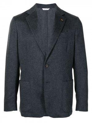 Однобортный пиджак из смесовой шерсти Colombo. Цвет: серый