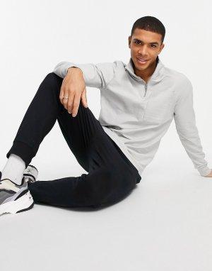 Лавандово-серый махровый свитер с короткой застежкой-молнией (от комплекта) Another Influence