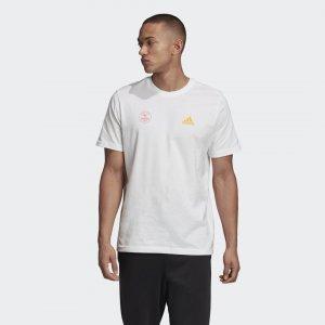 Футболка Athletics adidas. Цвет: белый