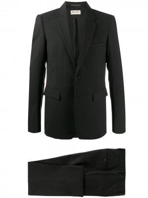 Костюм с однобортным пиджаком Saint Laurent. Цвет: черный