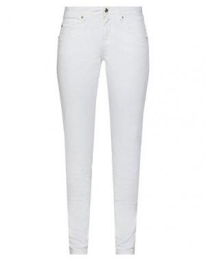 Повседневные брюки GAUDÌ. Цвет: белый