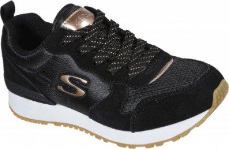 Кроссовки для девочек Retrospect, размер 37 Skechers. Цвет: черный