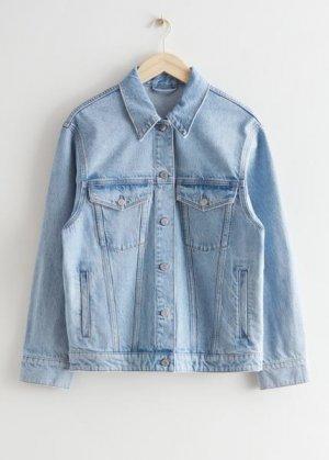Джинсовая куртка на пуговицах &Other Stories. Цвет: синий