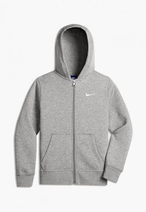 Толстовка Nike B NSW HOODIE YA76 BF FZ. Цвет: серый