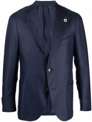 Casual blazer jacket Lardini. Цвет: синий