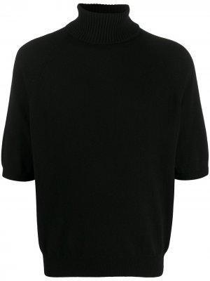 Водолазка с укороченными рукавами Saint Laurent. Цвет: черный
