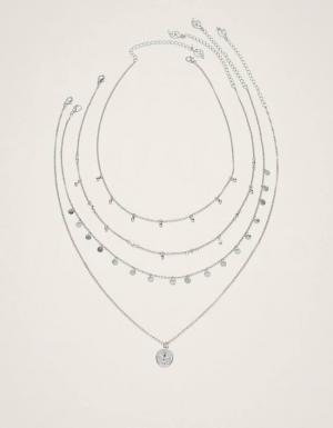 Набор из 5 подвесок с монетами и кристаллами ЖЕНСКАЯ КОЛЛЕКЦИЯ Серый 103 Stradivarius
