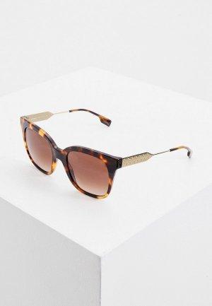 Очки солнцезащитные Burberry BE4328 388413. Цвет: коричневый