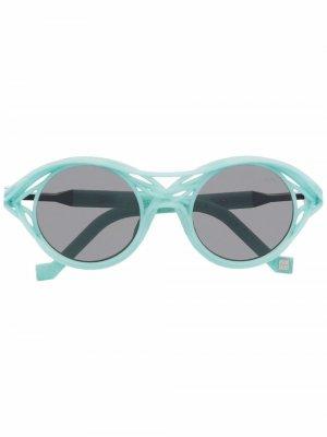 Солнцезащитные очки CL0015 в круглой оправе VAVA Eyewear. Цвет: синий