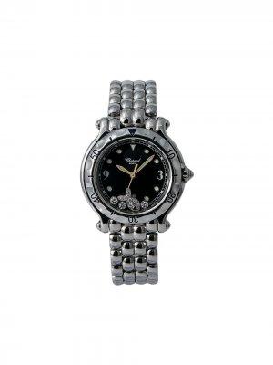 Наручные часы pre-owned Happy Sport Fish 33 мм Chopard. Цвет: черный
