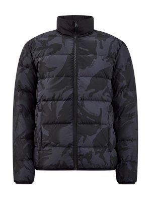 Утепленная куртка из матового нейлона с принтом BIKKEMBERGS. Цвет: серый