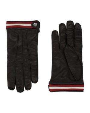 Перчатки BALLY. Цвет: черный