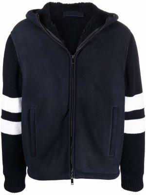 Куртка с капюшоном и логотипом Valentino. Цвет: синий