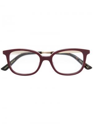 Очки в квадратной оправе Gucci Eyewear. Цвет: красный