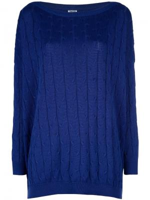 Вязаный свитер Romeo Gigli Pre-Owned. Цвет: синий