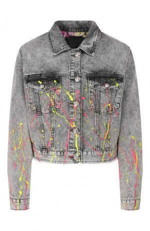 Джинсовая куртка Philipp Plein. Цвет: серый