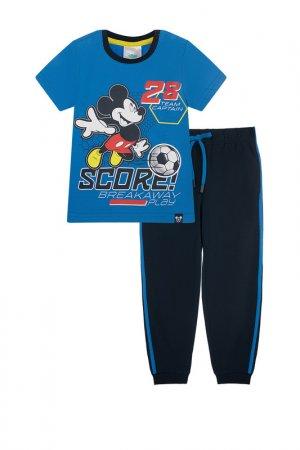 Комплект: футболка, брюки PlayToday. Цвет: тёмно-синий, синий