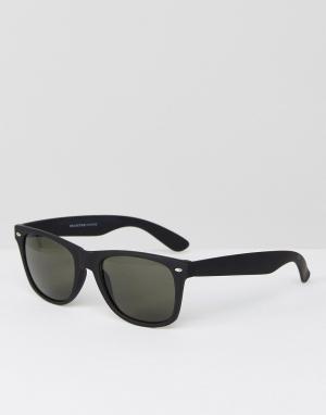 Черные солнцезащитные очки -Коричневый Selected Homme