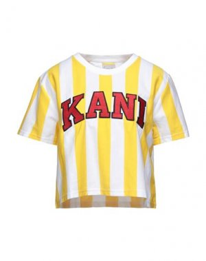 Футболка KARL KANI. Цвет: желтый