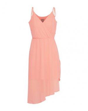 Короткое платье HAUTE HIPPIE. Цвет: лососево-розовый