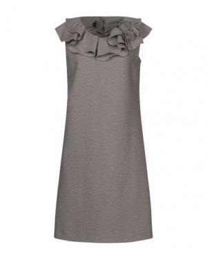 Короткое платье CLIPS. Цвет: хаки
