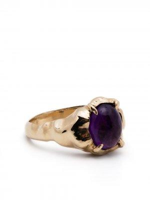 Перстень Vita из желтого золота с аметистом SUSANNAH KING. Цвет: золотистый