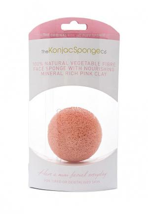 Спонж для очищения лица The Konjac Sponge Co Premium Facial Puff with Pink Clay (премиум-упаковка)