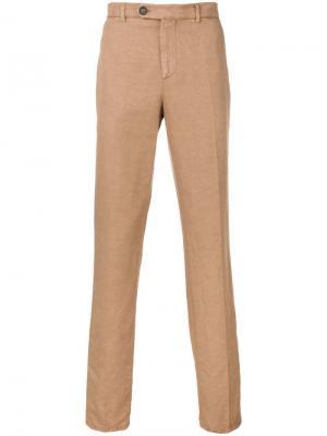 Классические брюки чинос Brunello Cucinelli. Цвет: бежевый