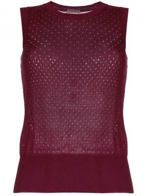 Punctured tank top Bottega Veneta. Цвет: коричневый