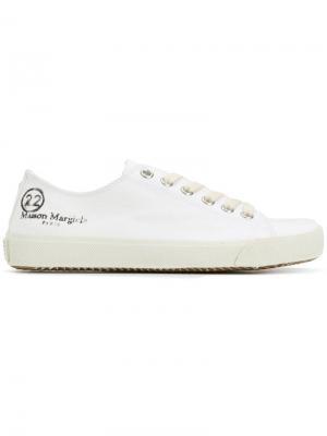 Кеды Tabi на шнуровке Maison Margiela. Цвет: белый