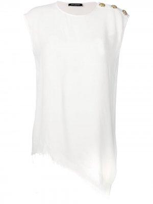 Embellished vest top Balmain. Цвет: белый