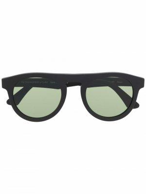 Солнцезащитные очки Racer в круглой оправе Retrosuperfuture. Цвет: черный