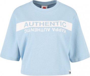 Футболка женская , размер 42-44 Kappa. Цвет: голубой