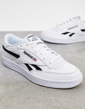 Белые кожаные кроссовки Club C Revenge MU-Белый Reebok