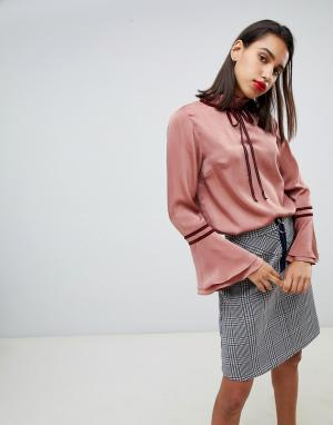 Блузка с завязкой -Коричневый Sofie Schnoor