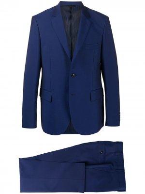 Строгий костюм с однобортным пиджаком MP Massimo Piombo. Цвет: синий