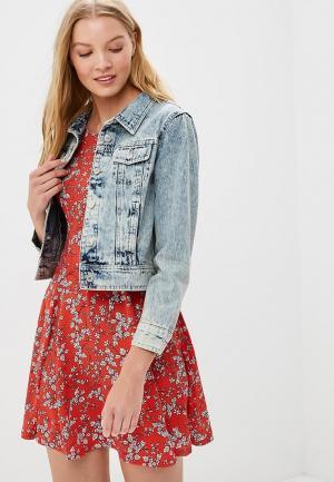 Куртка джинсовая Urban Bliss UR007EWBJZA5. Цвет: голубой