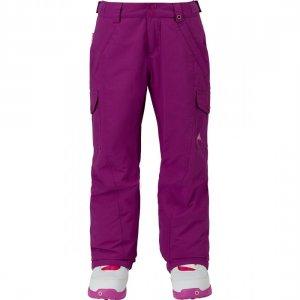 Детские штаны для сноуборда Girls Elite Carg Burton. Цвет: фиолетовый