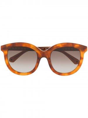 Солнцезащитные очки Lillian в оправе черепаховой расцветки Kate Spade. Цвет: коричневый